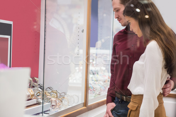 Couple looking at display of watches Stock photo © wavebreak_media