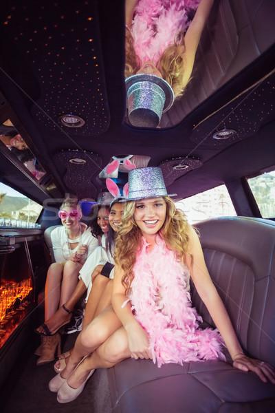 Frivolous women in a limousine Stock photo © wavebreak_media