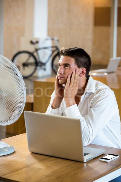 Adam esinti dizüstü bilgisayar büro ofis Stok fotoğraf © wavebreak_media