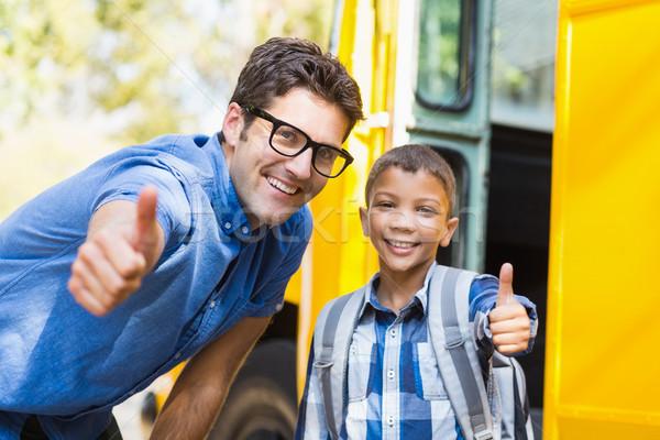 Sorridere insegnante scolaro ritratto Foto d'archivio © wavebreak_media