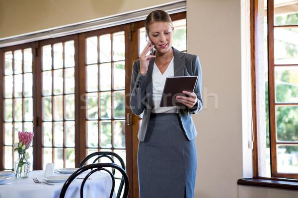 Woman making a phone call Stock photo © wavebreak_media