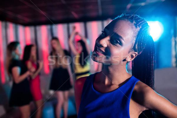 Portre güzel bir kadın gülen gece kulübü bar kadın Stok fotoğraf © wavebreak_media