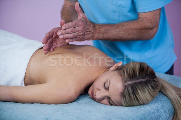 Nő hát masszázs férfi profi beteg Stock fotó © wavebreak_media
