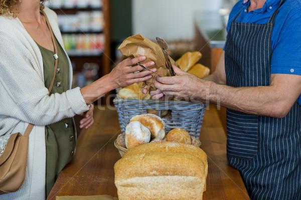 Kobieta chleba piekarni sklepu supermarket Zdjęcia stock © wavebreak_media