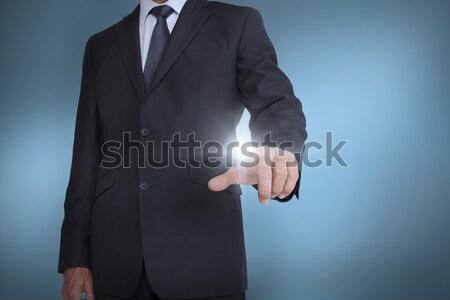 üzletember gesztikulál fehér középső rész üzlet férfi Stock fotó © wavebreak_media