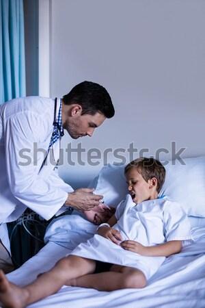 Paraşütçü askeri doktor hasta klinik adam tıbbi Stok fotoğraf © wavebreak_media