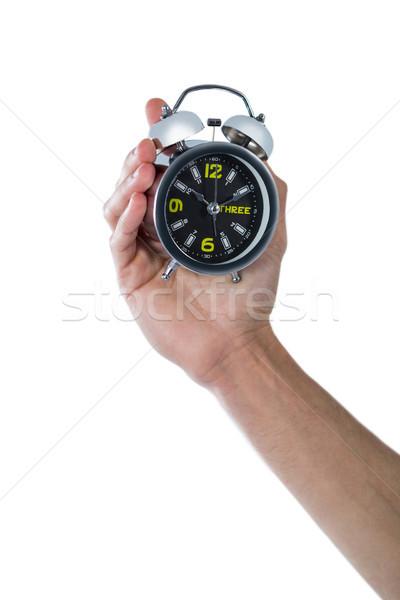 üzletember tart kéz igazgató ébresztőóra fehér Stock fotó © wavebreak_media