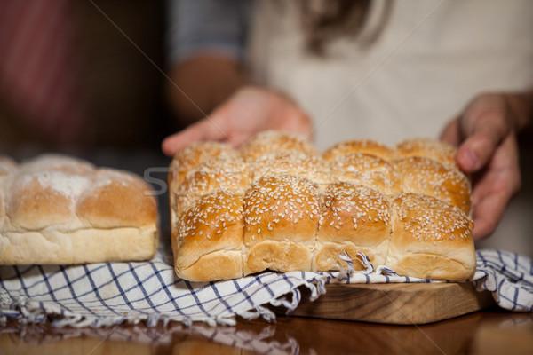 Kadın ekmek karşı pazar iş Stok fotoğraf © wavebreak_media