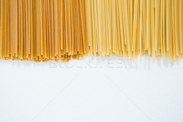 Spagetti tészta fehér oktatás vakáció ebéd Stock fotó © wavebreak_media