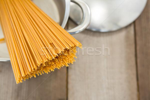 спагетти пасты древесины металл отпуск Сток-фото © wavebreak_media