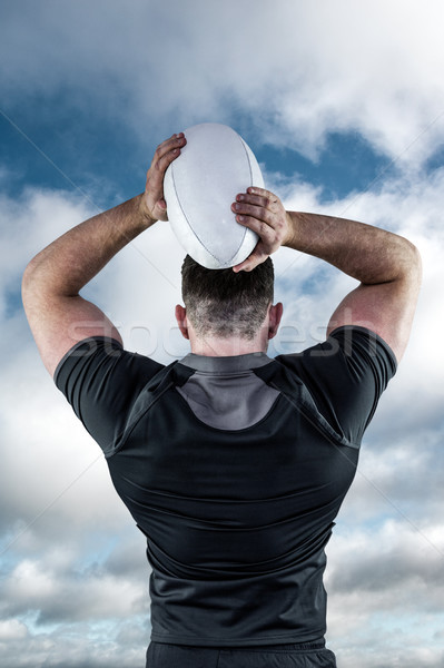 Afbeelding taai rugby speler Stockfoto © wavebreak_media