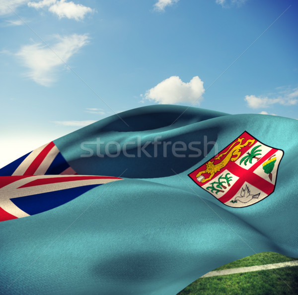 összetett kép Fidzsi-szigetek zászló kék ég felhők Stock fotó © wavebreak_media
