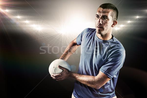 összetett kép rögbi játékos másfelé néz tart Stock fotó © wavebreak_media