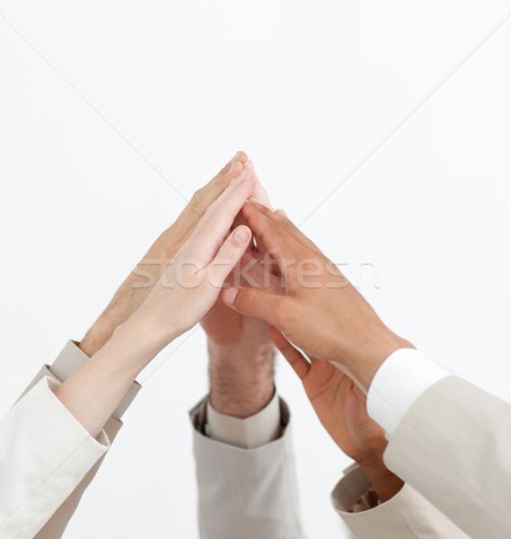 руки вверх изолированный белый стороны Сток-фото © wavebreak_media