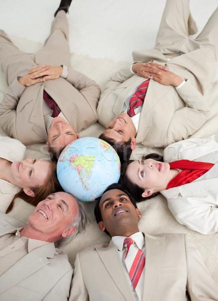 Foto stock: Negocios · internacionales · personas · piso · alrededor · negocios