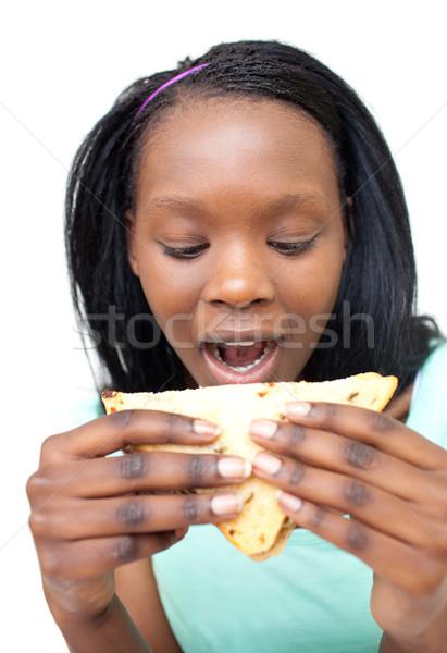 еды сэндвич белый здоровья пространстве Сток-фото © wavebreak_media