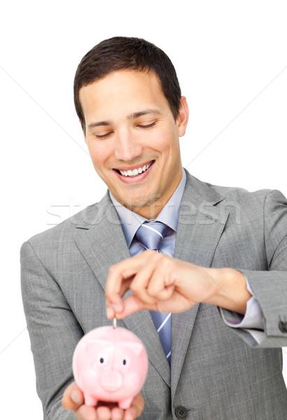 Atraente empresário dinheiro branco Foto stock © wavebreak_media
