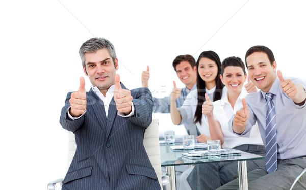 İş ortaklarımız ofis adam mutlu arka plan Stok fotoğraf © wavebreak_media