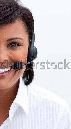 Beautiful customer service agent with headset on Stock photo © wavebreak_media