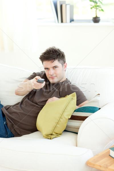 Férfi megnyugtató nappali mosoly boldog munkás Stock fotó © wavebreak_media