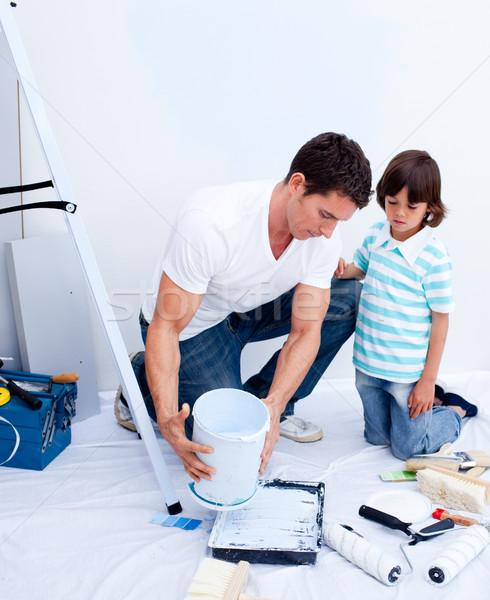 внимательный отцом сына дома человека домой Сток-фото © wavebreak_media