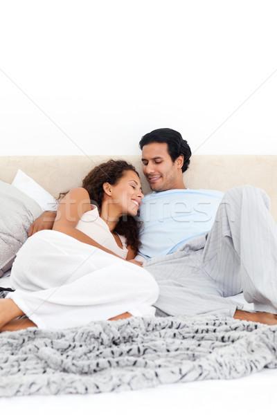 情熱的な カップル 一緒に ベッド ホーム 女性 ストックフォト © wavebreak_media