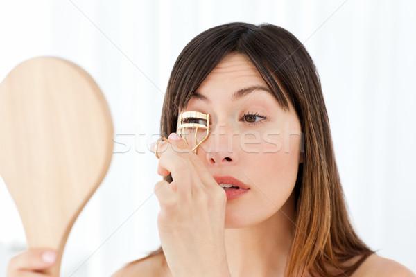 Nő szempilla űr fürdőszoba bőr női Stock fotó © wavebreak_media