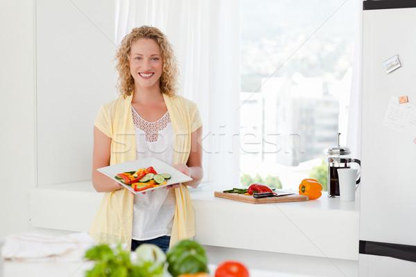 女性 健康食品 キッチン ホーム 家族 ストックフォト © wavebreak_media
