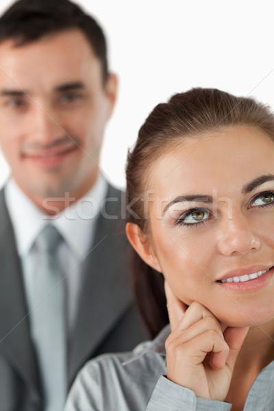 Collega's witte gezicht achtergrond zakenman Stockfoto © wavebreak_media