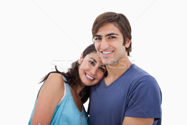 Paar ander witte liefde glimlachend Stockfoto © wavebreak_media