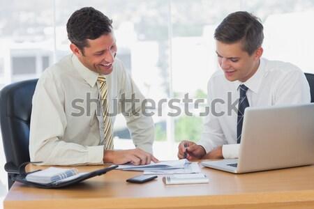Mosolyog fiatal üzleti csapat mentor fehér boldog Stock fotó © wavebreak_media