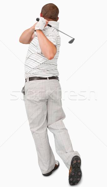 Golfçü beyaz spor kulüp oynamak Stok fotoğraf © wavebreak_media