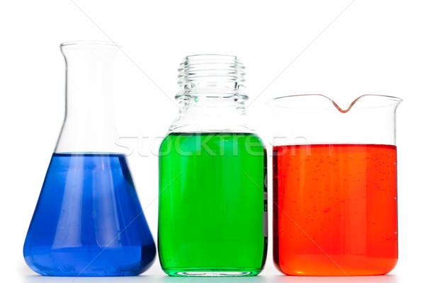 白 ガラス 緑 薬 青 科学 ストックフォト © wavebreak_media