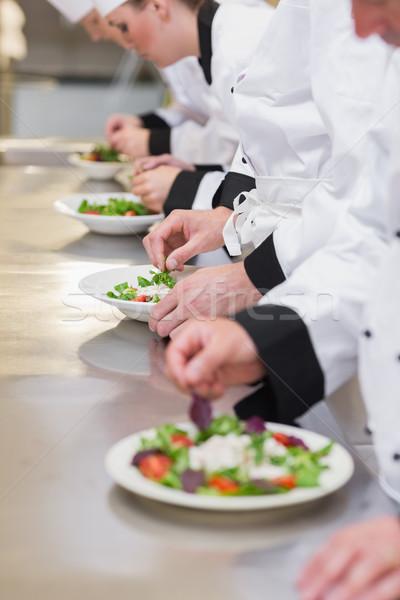 концентрированный Повара команда кухне фон ресторан Сток-фото © wavebreak_media