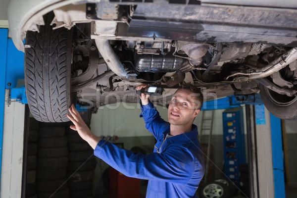 Mecánico coche retrato masculina taller Foto stock © wavebreak_media