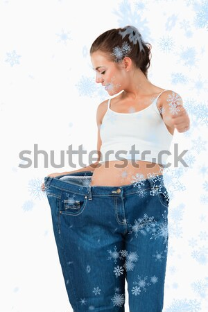 Portrait of happy woman with fanned euro banknotes Stock photo © wavebreak_media