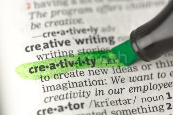 Kreativitás meghatározás zöld szótár oktatás Stock fotó © wavebreak_media
