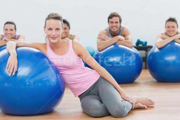Instructor clase ejercicio sesión fitness Foto stock © wavebreak_media