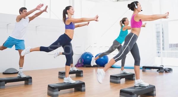 Fitness classe passo aeróbica exercer Foto stock © wavebreak_media