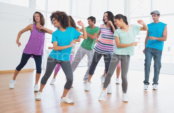Uygunluk sınıf eğitmen pilates egzersiz parlak Stok fotoğraf © wavebreak_media