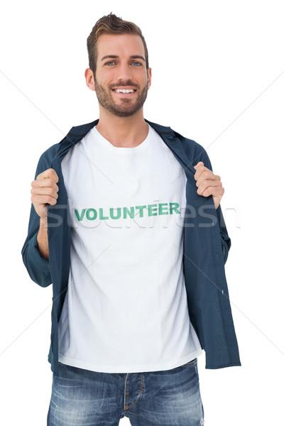 Retrato sonriendo jóvenes masculina voluntario pie Foto stock © wavebreak_media