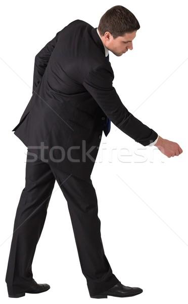 Jóképű üzletember húz kéz fehér férfi Stock fotó © wavebreak_media