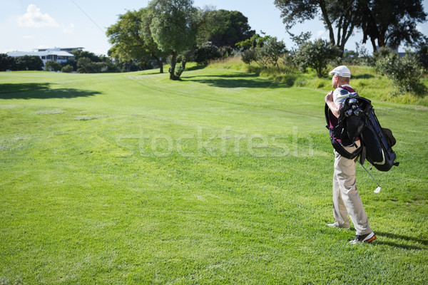 Jogador de golfe saco caminhada campo de golfe Foto stock © wavebreak_media