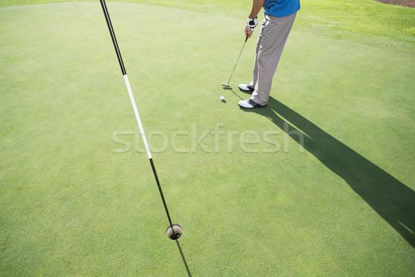 гольфист мяча зеленый гольф спорт Сток-фото © wavebreak_media