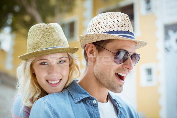 Csípő fiatal pér idő együtt napos idő város Stock fotó © wavebreak_media