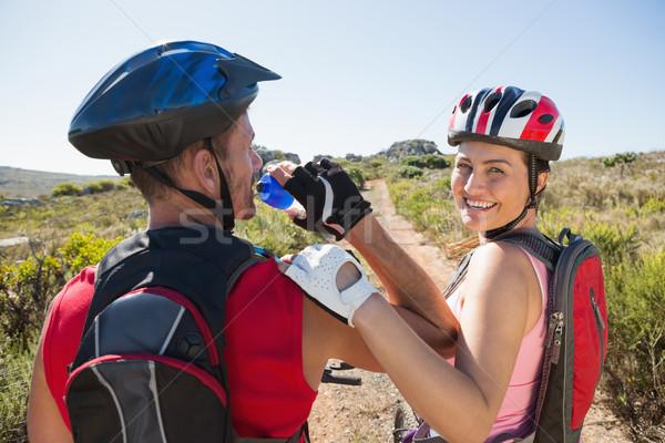 アクティブ カップル 自転車 女性 ストックフォト © wavebreak_media