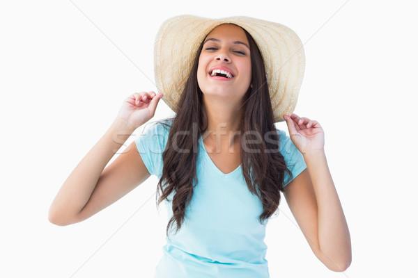 счастливым молодые брюнетка рук женщины Сток-фото © wavebreak_media