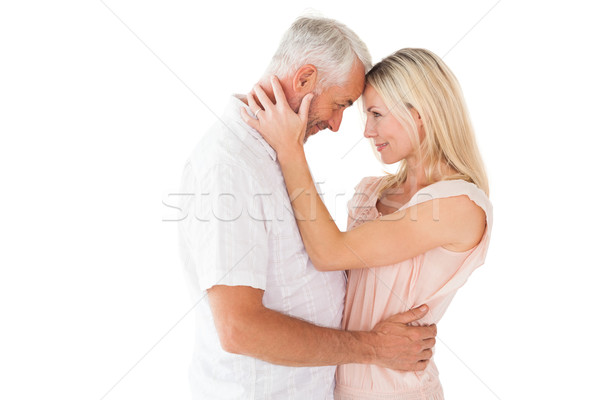 Cariñoso Pareja pie blanco mujer Foto stock © wavebreak_media