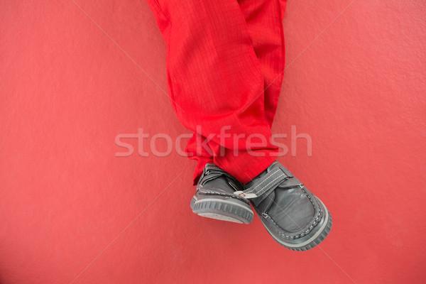 Little boys legs in santa costume Stock photo © wavebreak_media