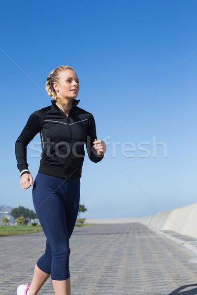 Zdjęcia stock: Dopasować · jogging · molo · zdrowia